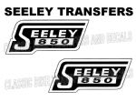 Seeley Tank 850 Transfers Decals 1968 Onwards D3044 Motorcycle Sold as a Pair